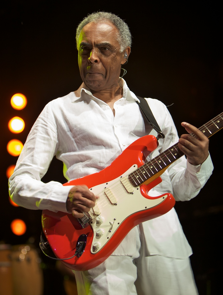 Gilberto Gil sings at Jazz à Juan on 7/22/11