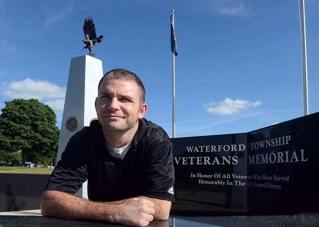 . Russ Vernan, of Waterford Twp., served in the Air Force for seven years before becoming a cost price analyst for the Department of Defense, pictured at the Waterford Veterans Memorial Wednesday July 24,2013. (Oakland Press Photo:Vaughn Gurganian)