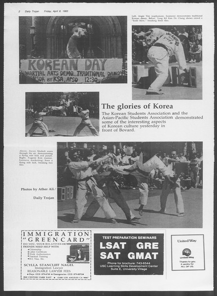 Daily Trojan, Vol. 93, No. 54, April 08, 1983