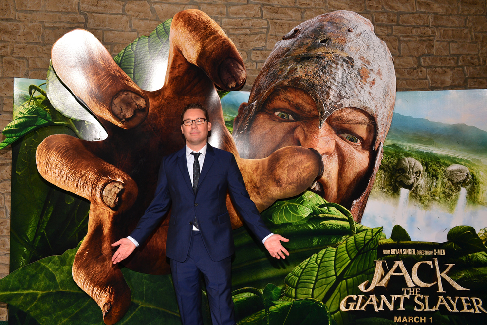 """. Director Bryan Singer attends the premiere of New Line Cinema\'s \""""Jack The Giant Slayer\"""" at TCL Chinese Theatre on February 26, 2013 in Hollywood, California.  (Photo by Alberto E. Rodriguez/Getty Images)"""