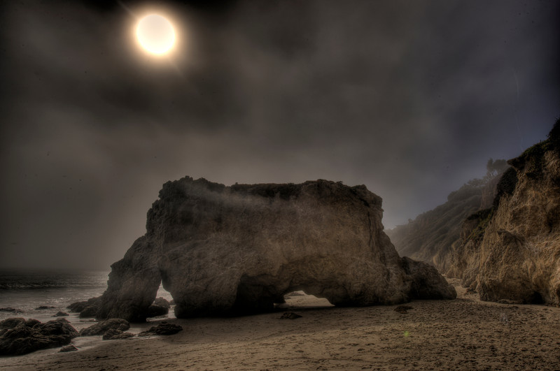 HDR Bull on El Matdor Beach, Shot With Nikon D3X