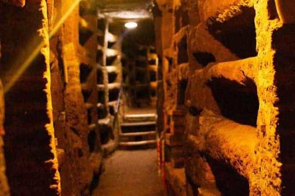 Roman catacombs - Catacomb of Priscilla in Rome