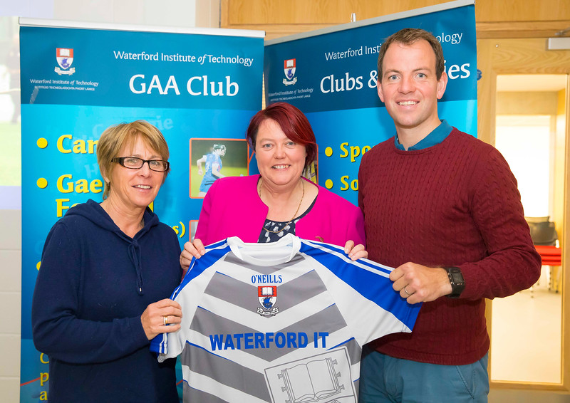 WIT holds event to honour 2016 All Ireland medal winning students. Pictured are, Management of the Kilkenny Senior Camogie team Ann Downey (on left) and Conor Phelan (on right) with President of the Camogie Association Catherine Neary. Picture: Patrick Browne  Waterford Institute of Technology's presence and influence across Gaelic Games at a national level in 2016 has been very noticeable. In total there are 32 past and present WIT students on the respective playing panels that won All Ireland medals in 2016 and a further 4 members on the backroom management teams.   To honour this huge achievement, WIT GAA Club is paying tribute to these 36 past members on securing these prestigious national titles on Monday 3 October, 6.30pm at the WIT Arena.   Along with the players, the prestigious cups, including the All Ireland Senior Hurling Cup- Liam McCarthy, the All Ireland Senior Camogie Cup- O'Duffy, The All Ireland Minor Cup and the All Ireland Under 21 Hurling Cup- James Nowlan, will be on show on the night.