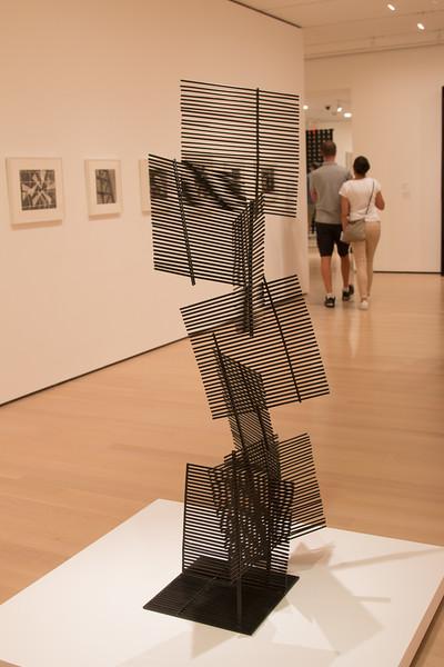 Gego (Gertrud Goldschmidt), Venezuelan, born in Germany (1912-1994) -- Eight Squares (Ocho cuadrados), 1961 (painted iron) -- Museum of Modern Art (MoMA), New York