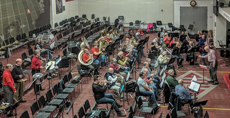 November 18 rehearsal at Steinbrenner Band Center