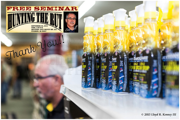 "Live & Filmed on Location ""Hunt The Rut"" Seminar By Don Bell founder of Code Blue & Top Secret Deer Scents 09/26/2015"