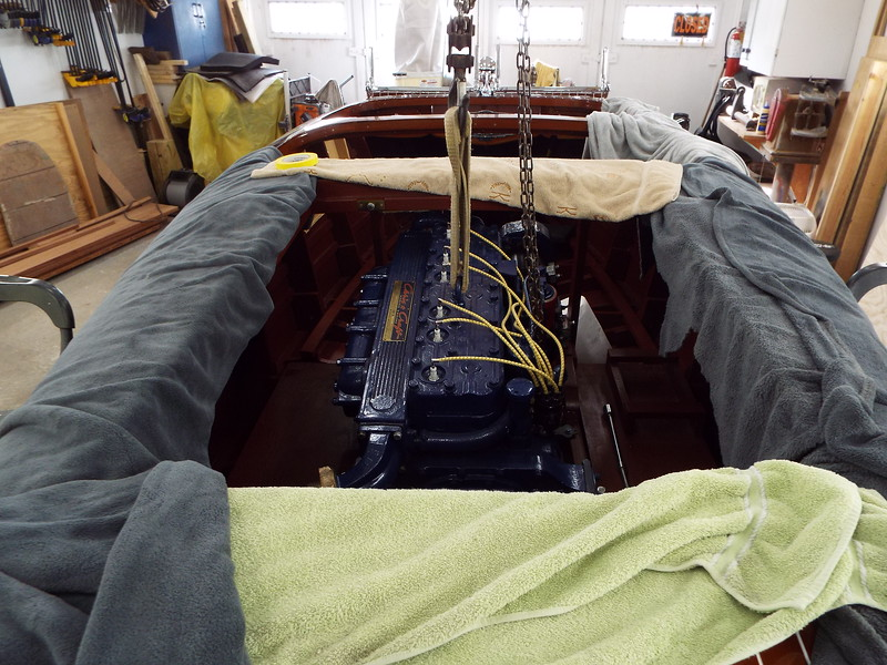 Installing the engine.