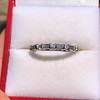 1.10ctw Round and Baguette Diamond Eternity Band 1