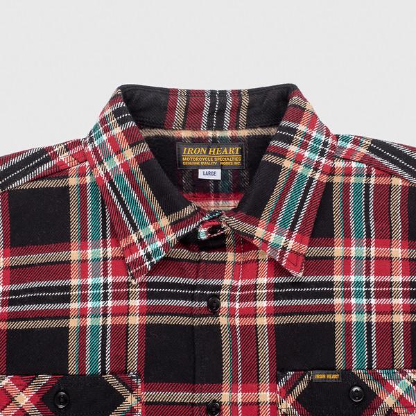 Black Crazy Check Ultra Heavy Flannel Work Shirt--3.jpg