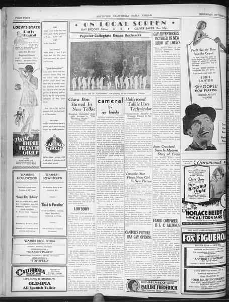 Daily Trojan, Vol. 22, No. 20, October 09, 1930
