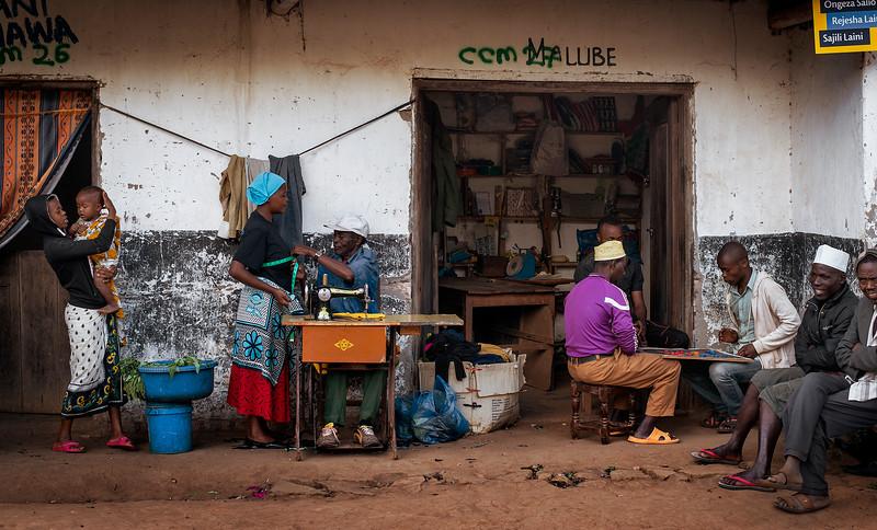 Street scene in Pangani.  Tanzania, 2019.