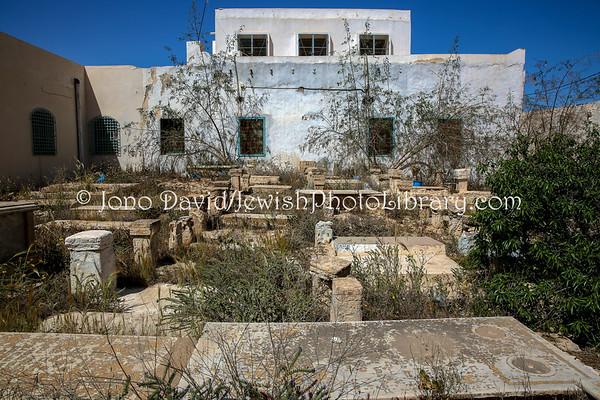 TUNISIA, Djerba, Hara Kebira. Jewish Cemetery of Synagogue Rabbi Eliezer (3.2016)