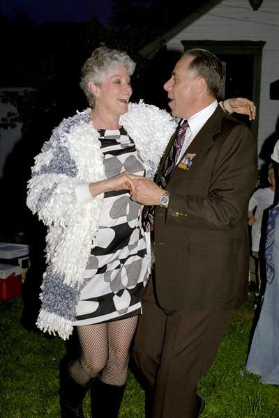 Melanie and Bob, dancing at Abbe's retro birthday party. April 2000