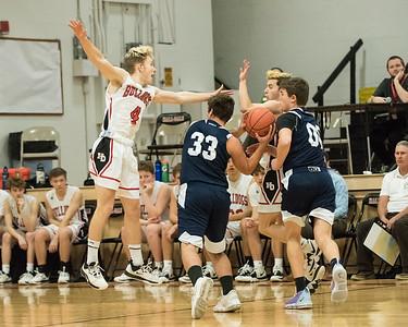 2020 Varsity Boys Basketball:  Hall-Dale vs Telstar