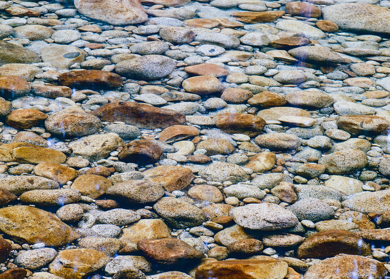 Rocks in Bottom of Merced River
