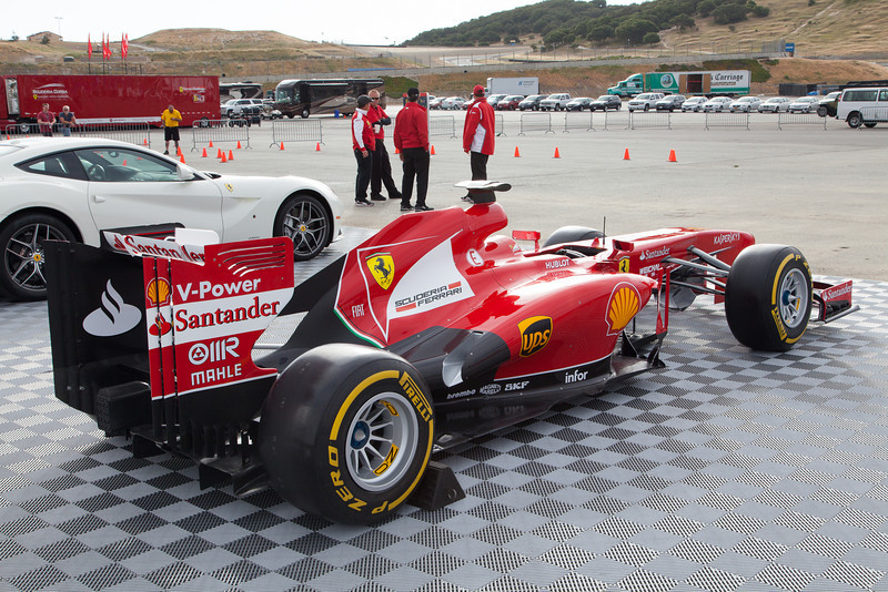 Formula 1 Ferrari F138 on display at Laguna Seca. © 2014 Victor Varela