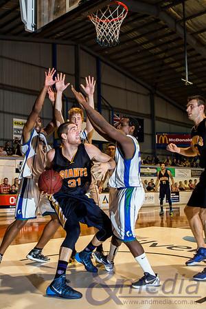 2014 WA State Basketball League: Round Three - Goldfields Giants vs Stirling Senators