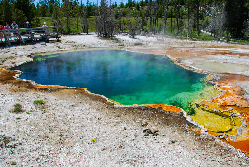Geyser pools at the West Thumb