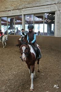 Caitlyn haar 8e paardijles