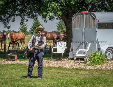 A.J. Scheiber Playing Guitar at This Old Horse