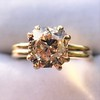 Spilt Prong Yellow Gold Solitaire Mounting, by Stuller 12