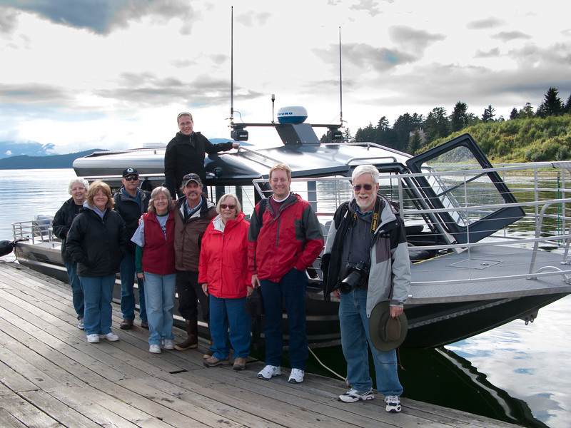 Our whale watching boat and crew Auke Bay.