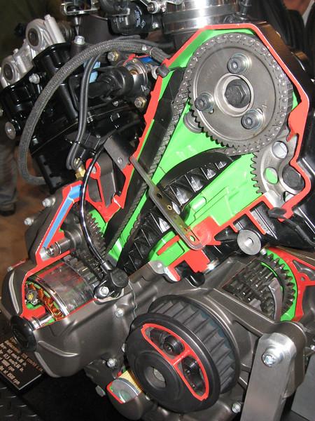 Buell engine cutaway