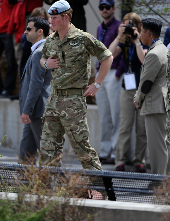 . COLORADO SPRINGS, CO - MAY 11: Prince Harry of Wales arrives for the opening 2013 Warrior Games opening ceremonies at the United States Olympic Training Center  Saturday afternoon, May 11th, 2013.(Photo By Andy Cross/The Denver Post)
