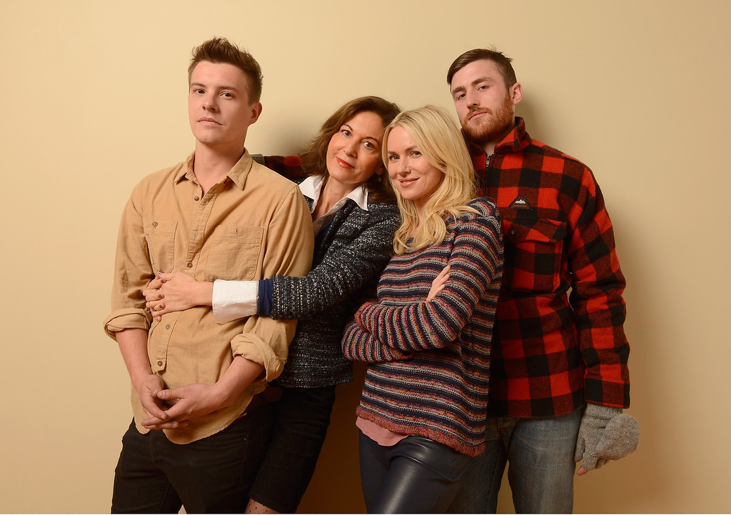. (L-R) Actor Xavier Samuel, director Anne Fontaine, actress Naomi Watts and actor James Frecheville pose for a portrait during the 2013 Sundance Film Festival at the Getty Images Portrait Studio at Village at the Lift on January 18, 2013 in Park City, Utah.  (Photo by Larry Busacca/Getty Images)