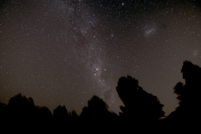 Milky Way around the Southern Cross - 6/2/2016 (Processed stack)