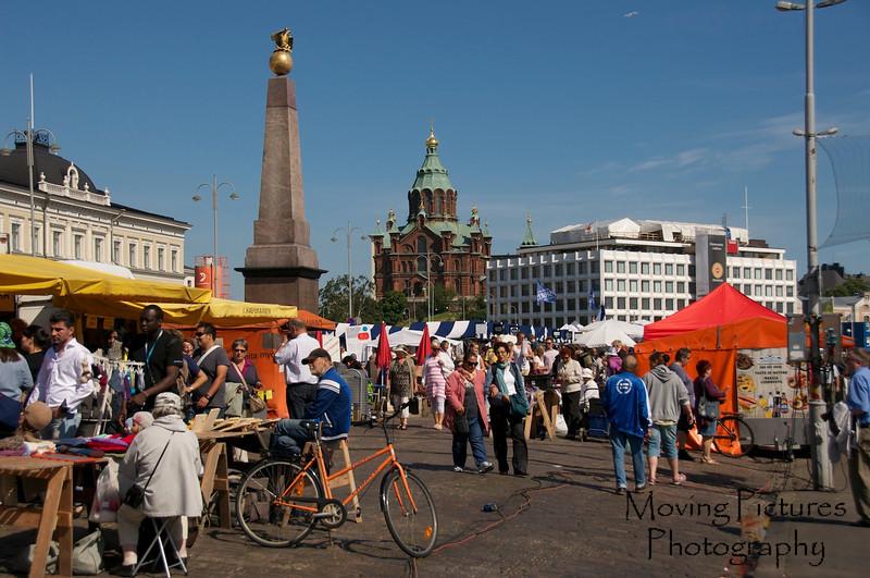 Helsinki - fish market at wharf