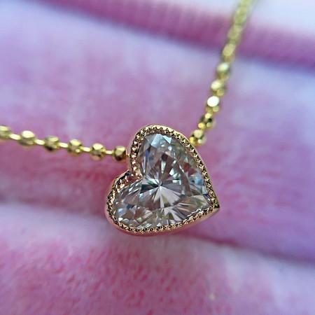 ".49ct Heart Shape Diamond ""Askew"" Pendant"