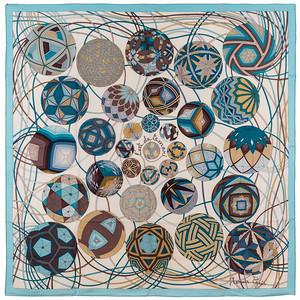 Art du Temari - CS 140 - Bleu ciel blanc taupe - NWCTDS - 1209202042