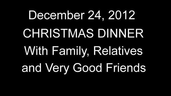 2012 Christmas Dinner