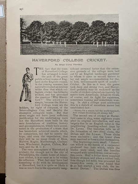 Haverford History Article