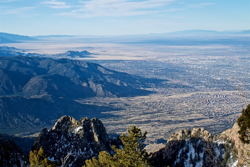 Albuquerque at sunrise from Sandia Crest Cibola National Forest