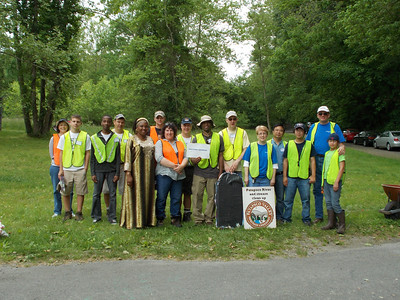 5.20.12 River Cleanup with Northrop Grumman Employees in Patapsco State Park Avalon Area