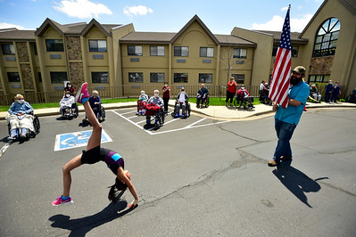 Photos: Car Parade for Senior Citizens at Elderly Care Facilities in Longmont