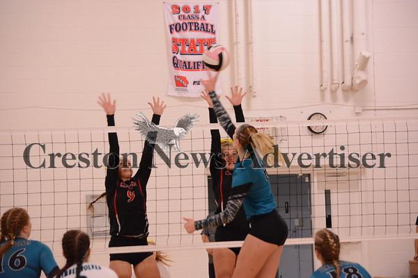 9-7 Creston-Southwest Valley volleyball