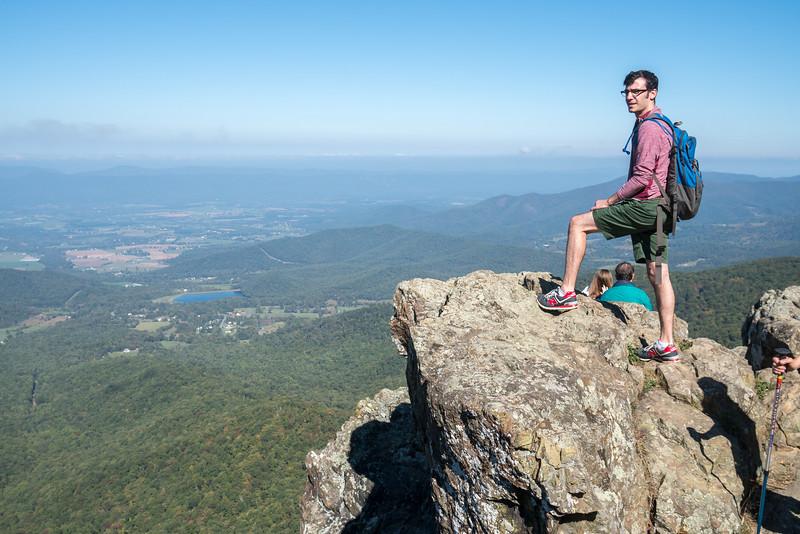 Lonny on Shenandoah Hike