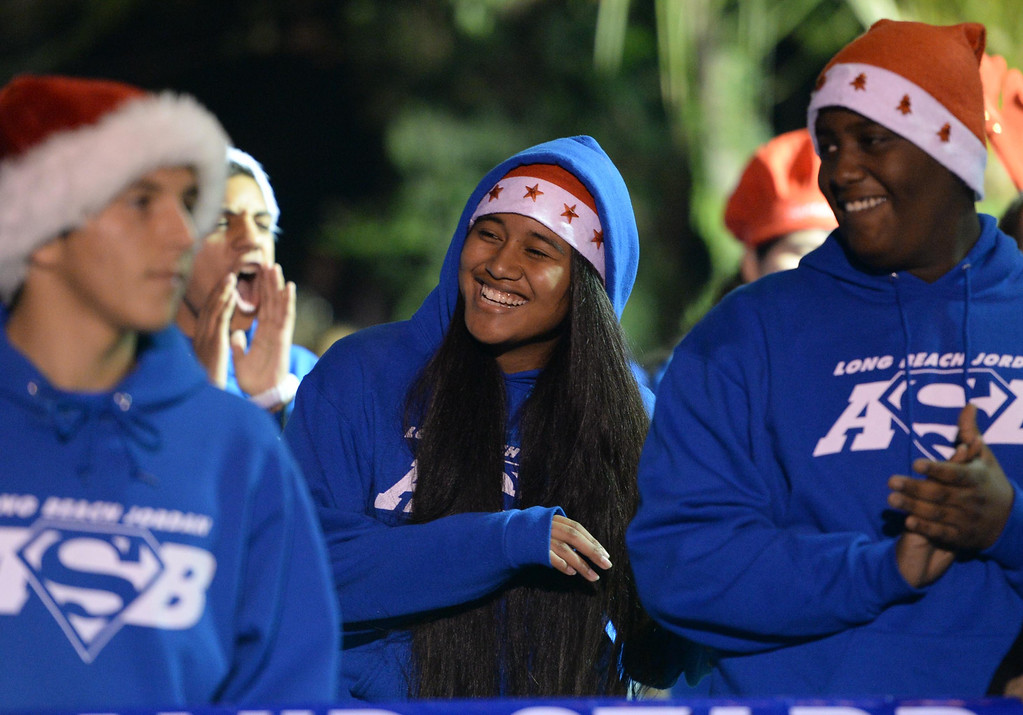 . The 60th annual Daisy Avenue Parade in the Wrigley neighborhood Saturday, December 13, 2013, in Long Beach, CA.   Jordan High School. Photo by Steve McCrank/DailyBreeze