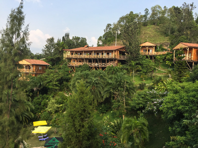 Comoran Lodge overlooking Lake Kivu