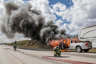 I-25 & Castle Pines Vehicle Fire
