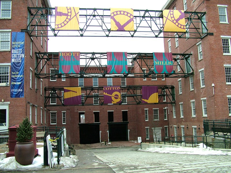 Banners at Boott Cotton Mills - Lowell, MA