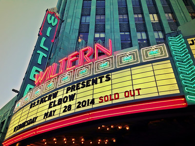 Week 17- Elbow at the Wiltern & Cafe Gratitude