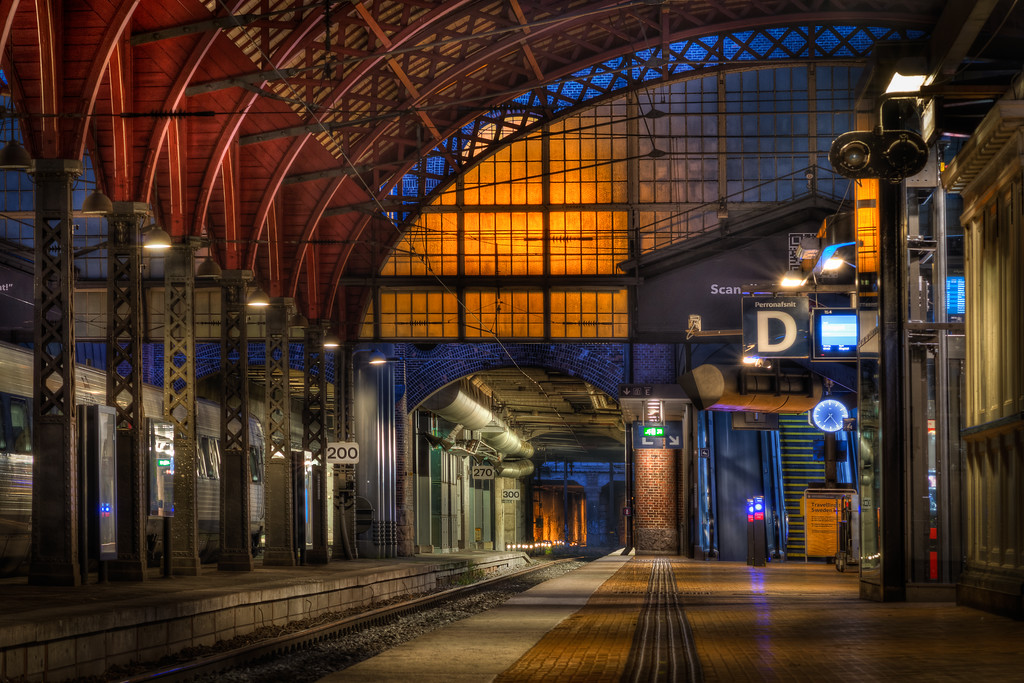 The Empty Central Station in Copenhagen