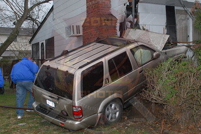 Wyandanch Fire Co. MVA w/ Car Into a House 82 Colonial Springs Rd. 4/16/11