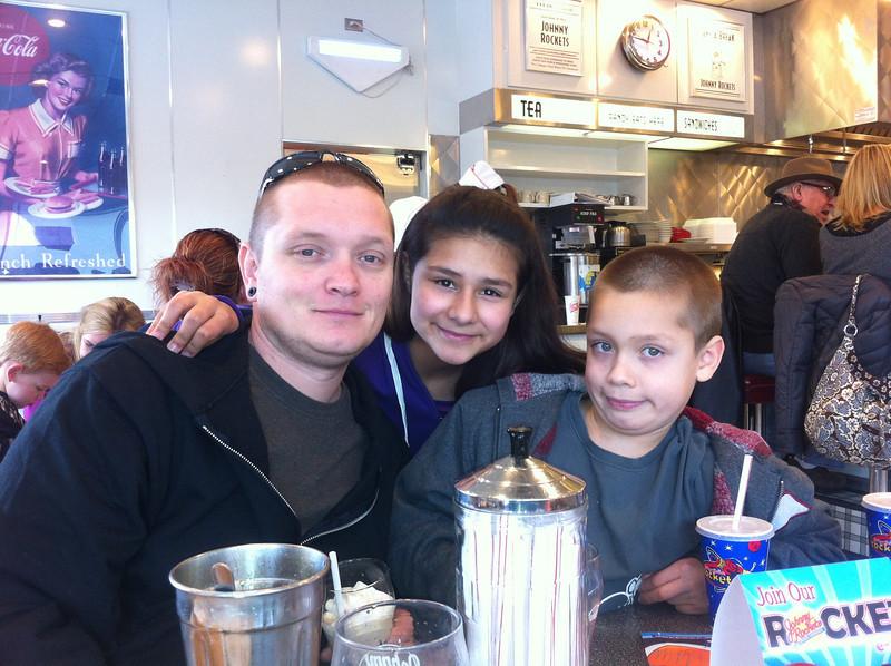 Mark, his daughter Victoria (12) and son Zao (9)
