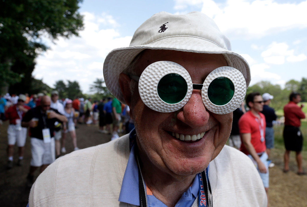 . Anthony Medori, of Wilmington, Del., poses for a photo during the third round of the U.S. Open golf tournament at Merion Golf Club, Saturday, June 15, 2013, in Ardmore, Pa. (AP Photo/Gene J. Puskar)