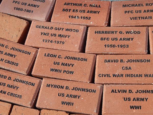 Veterans Park Bricklaying